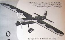 """OSPREY PLAN + CONSTRUCTION ARTICLE for a 48"""" GullWing UC Stunt Model Airplane"""