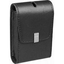 Canon PSC-1050 Deluxe Black Leather Canera Bag Case PowerShot SD940 Black Brown
