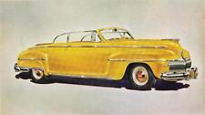 Old Print.  Yellow 1942 DeSoto Custom Convertible Club Coupe Auto Ad
