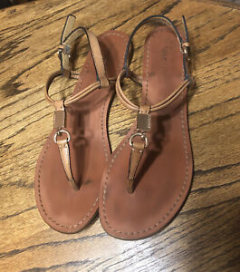 Coach Charleen Ginger (brown) T-Strap Sandal - size 9 1/2