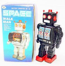 "China Me-100 Space Walk Man 12"" Robot Tin Toy Figure #Black Batt. Op. Nmib`80!"