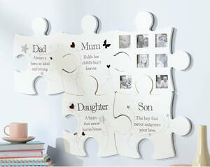 Family Jigsaw Wall Art Photo Picture Frame Dad Mum Son Daughter Photograph Arora