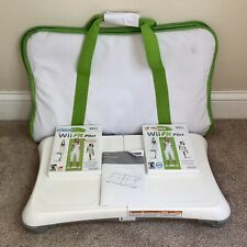 Nintendo Wii Fit Plus Balance Board Workout Fitness Bundle 2 Games Carry Bag