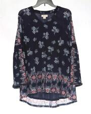 LT349 Style&co. Women's Plus Floral Crochet-Trim Printed Tunic Top NWT Size 0X