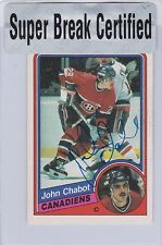 1984-85 O PEE CHEE HOCKEY JOHN CHABOT AUTOGRAPH SUPER BREAK CERTIFIED