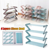 4 Tiers Detachable Shoe Rack Tower Shelf Organiser Storage Stand Cabinet