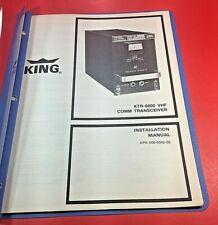 King KTR-9000 VHF COMM Transceiver Installation Manual 006-0042-00