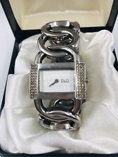 Dolce & Gabbana Silver Diamanté Large Link Ladies Chain Watch