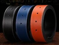 Replacement Belt H Belt Men's Reversible Genuine Leather Belt Strap (No Buckle)