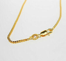 """Wholesale 1X 16"""" 18K Jewelry Yellow GOLD Filled Box CHAINS NECKLACE For Pendants"""