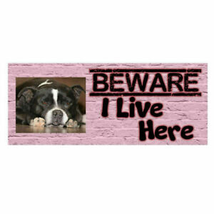 Beware Of The Dog Personalised Photo Sign Warning Caution Fence Gate Plaque