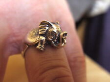 SOLID STERLING SILVER RING ELEPHANT , HAND MADE BY ME. SIZE T-U