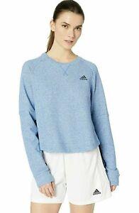 NEW adidas Women's Long Sleeve S2S Crew Neck Sweatshirt Blue Size Large
