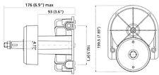 Ultraflex T85 Boat Outboard/Sterndrive Rotary Steering Helm With Black Bezel