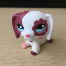 OOAK LPS blink flower eyes dachshund dog Hand Painted LITTLEST PET SHOP