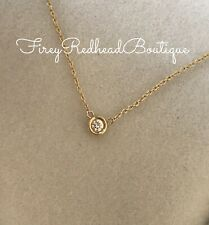 Diamond Pendant Necklace - 18K Yellow Gold - .05ct