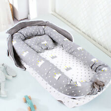 Portable Soft Cotton Baby Nest Bed+Pillow Fence Newborn Infant Bassinet Lounger