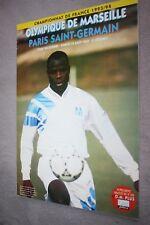 programme )) OM MARSEILLE V PSG )) Classico Saison 1993/1994