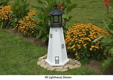 Amish-Made Replica Cape Cod, Ma Lighthouse with Lighting - In 13 Sizes!