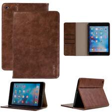 Premium cover para Apple iPad mini 4 Tablet Cuero Funda protectora bolso case marrón