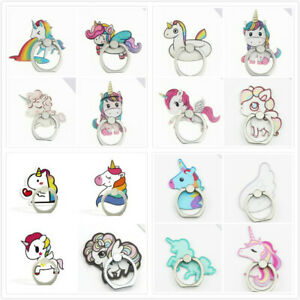 Unicorn Pony Rotating Cell Phone iPhone Bracket Grip Finger Ring Stand Holder