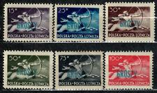 New listing Poland Fischer # 444 - 449 Centaur - Air Post Issue Overprinted In Groszy Mnh