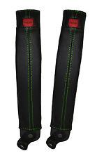 Green stitch 2x ceinture peau couvre fits TOYOTA LAND CRUISER PRADO lj78 / LJ70