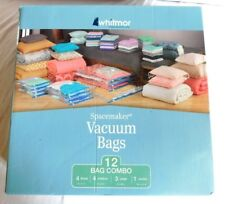 New Whitmor Spacemaker Vacuum Bags Combo Set of 12 Bags
