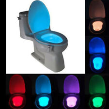 Colourful 8 color led motion sensor automatic bathroom toilet nightlight