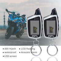 Motorcycle Alarm System Anti-theft Security Remote Engine Start Sensor