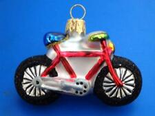 SM MOUNTAIN BIKE BICYCLE UROPEAN BLOWN GLASS CHRISTMAS TREE ORNAMENT RIDER GIFT