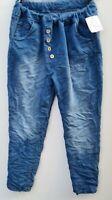 Damen Denim Vintage Jeanshose Stretch Jeans Hose Blau Größe 38-42 verwaschen NEU