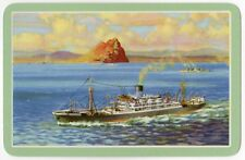 Playing Cards 1 Single Swap Card - Old Vintage BLUE FUNNEL LINE Shipping Ship 13