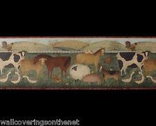 Farm Animal Design, Vinyl Coated Wallpaper Border (23cm x4.57m)