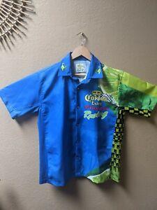 Corona Extra Racing Team Men's All Over Print Snap Up Shop Shirt Size M RARE