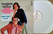 "CARSON & GAILE - SAN ANTONIO ROSE - KAPP LP - WHITE LB PRO  - ""SOMETHING STUPID"""