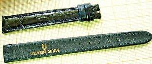1 bracelet cuir bleu Universal Geneve 11 mm strap band watch  dame vintage