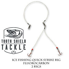 Tooth Shield Tackle Ice Fishing Quick Strike Rig / Northern Pike Tip Up Harness