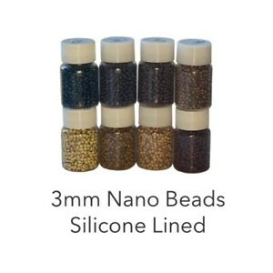 ~ 3mm Nano Rings Beads Silicone Lined Nano Tip Hair Extensions ~ Phoebe-s ~