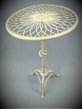 Table Ronde Blanc Antique Fer Forgé pour Maison + Balcon Jardin Terrasse Tisch2