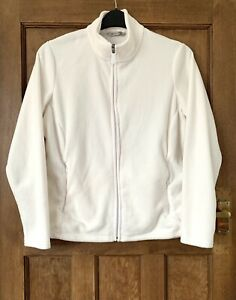 LADIES FLEECE JACKET SIZE Plus Size 18 Winter White Marks And Spencer M&S