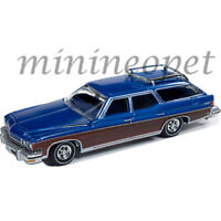 AUTOWORLD AW64222 1974 BUICK ESTATE WAGON 1/64 DIECAST MODEL CAR CP7597 BLUE