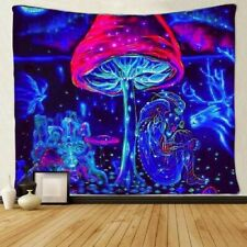 Psychedelic Trippy Mushroom Tapestry Wall Hanging Decor Blanket Hippie Tapestry