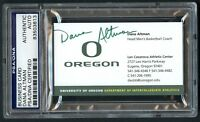 Dana Altman signed autograph auto Oregon Basketball Coach Business Card PSA Slab