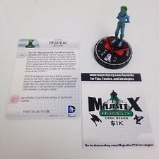 Heroclix Superman / Wonder Woman set Brainiac (Red Son) #063 Chase figure w/card