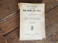 Les poésies du Troubadour PEIRE BREMON RICAS NOVAS thèse Boutière 1930