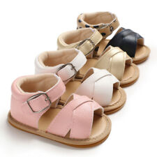 Girls Breathable Sandals Infant Anti Slip Crib Rubber Sole Shoes Beach Shoes