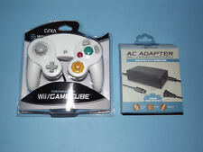 NEW WHITE NINTENDO GAMECUBE CONTROLLER WITH AC ADAPTER