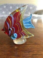 Vintage Art Glass Murano Style Angelfish Aquarium Figurine