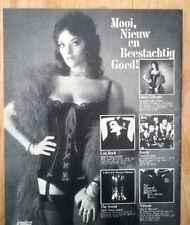 DANA GILLESPIE The SWEET BOWIE Dutch Poster size Press ADVERT 12x10 inches